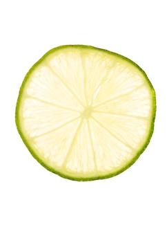 Fatia de limão fresco em branco