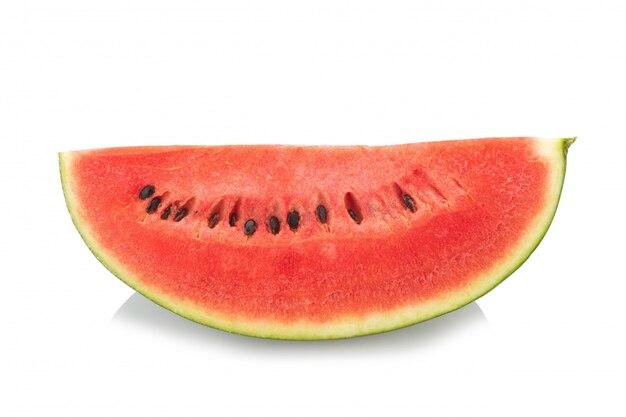 Fatia de melancia no fundo branco