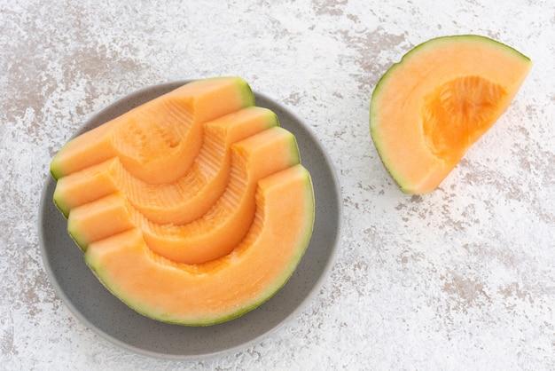 Fatia de melão japonês