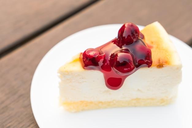 Fatia de new york cheesecake