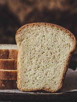 Fatia de pão branca