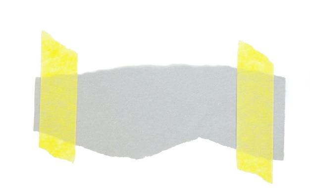 Fatia de papel isolada no fundo branco