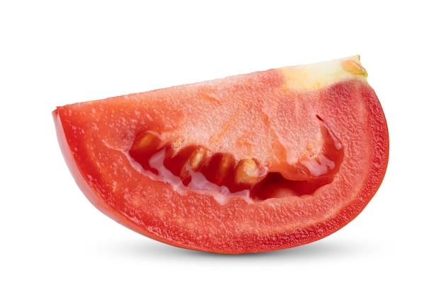 Fatia de tomate isolada em fundo branco
