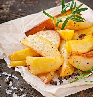 Fatias de batata frita