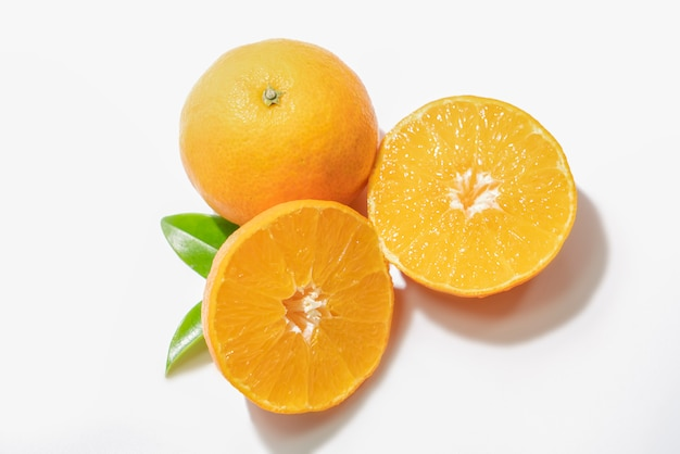 Fatias de frutas laranja