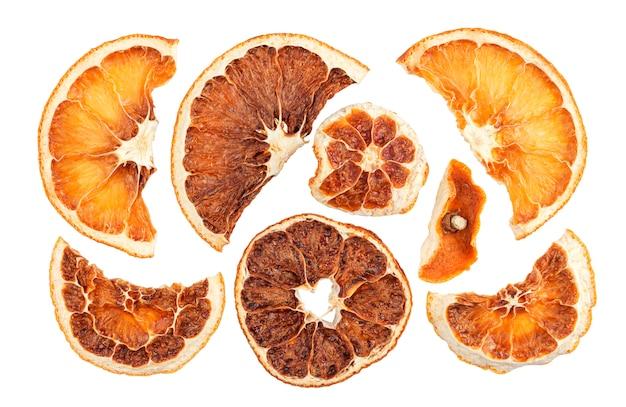 Fatias de laranjas secas