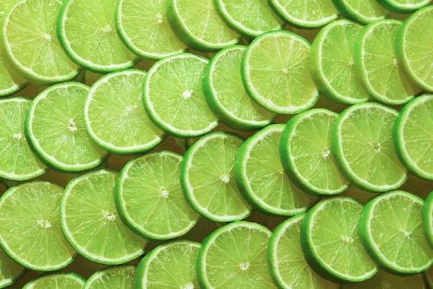 Fatias de limão fresco como superfície