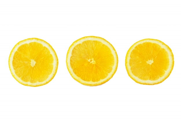 Fatias de limão maduro