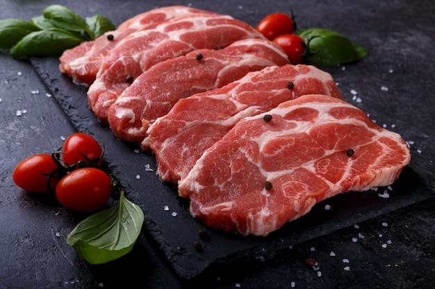 Fatias de lombo de porco