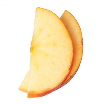 Fatias de maçã isoladas