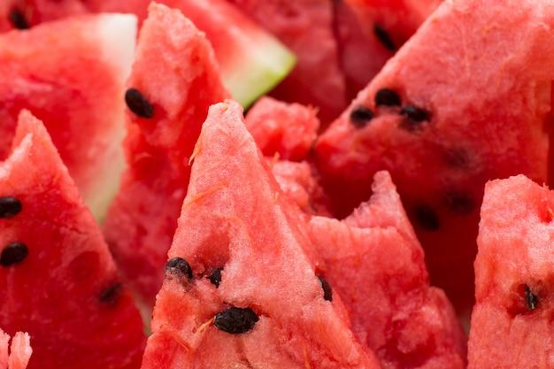 Fatias de melancia madura