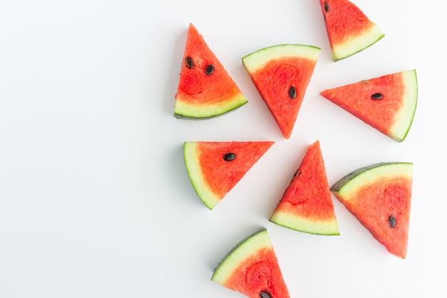 Fatias de melancia na vista superior