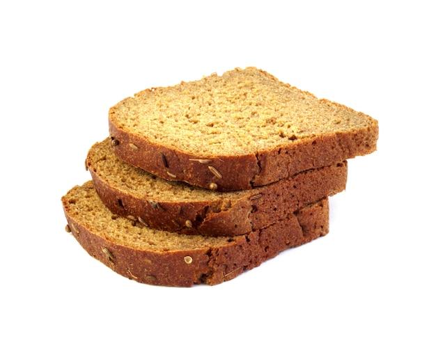 Fatias de pão de centeio