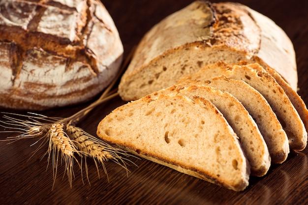 Fatias de pão deliciosos