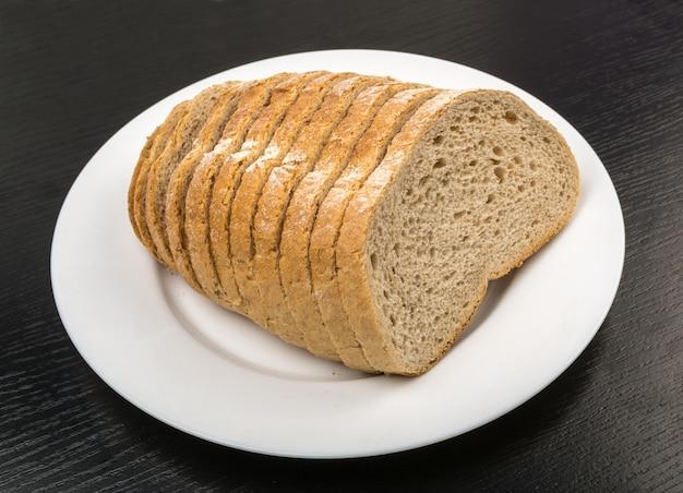 Fatias de pão isoladas