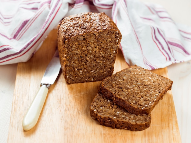 Fatias de pão orgânico