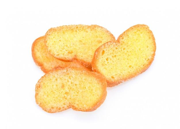 Fatias de pão torradas isolado