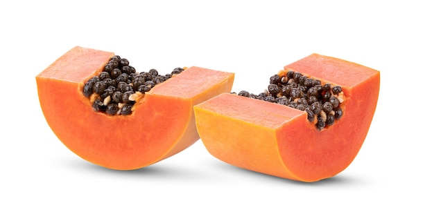 Fatias de papaia doce