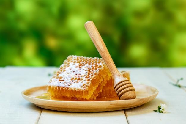 Favo de mel e dipper doce