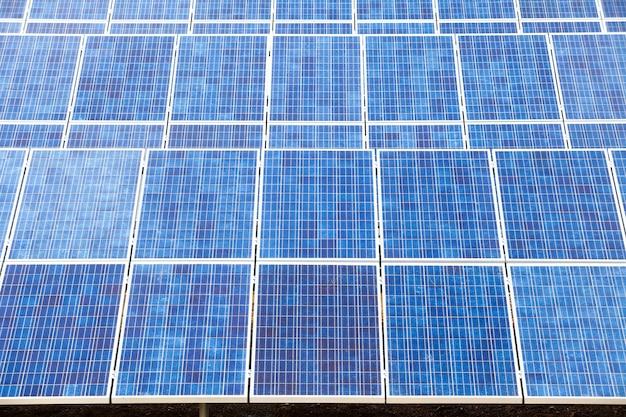Fazenda de células solares para energia verde