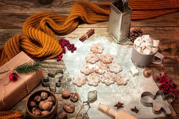 Fazendo biscoitos de gengibre