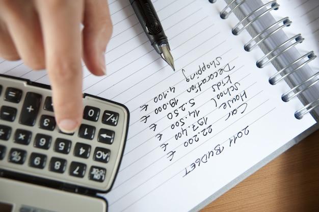 Fazendo orçamento em casa