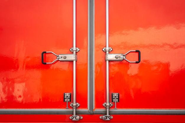 Fechadura de segurança da porta de aço vermelha do caminhão de carga