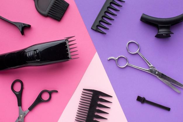 Fechar aparador de cabelo e suprimentos