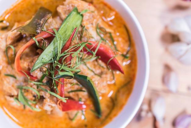 Feche a deliciosa comida tailandesa