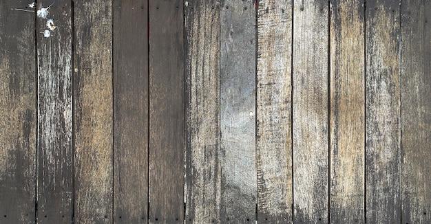 Feche a velha mesa rústica de textura de madeira escura com fundo