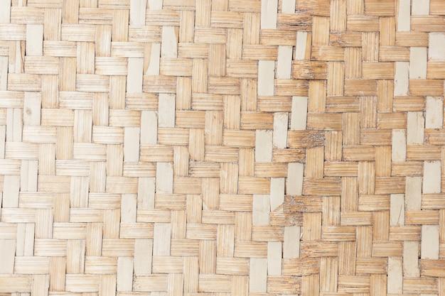 Feche acima da textura de bambu tecida