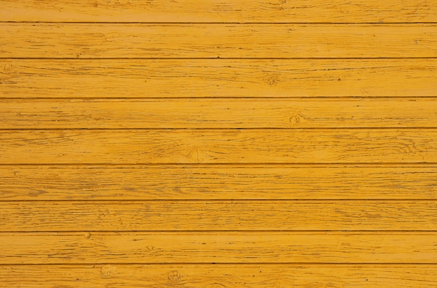 Feche acima da textura de fundo de pranchas de madeira pintadas de amarelo quente vintage resistido, painel de parede de estilo rústico