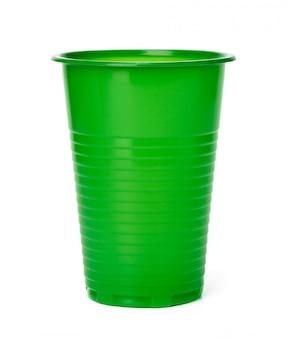 Feche acima do copo plástico