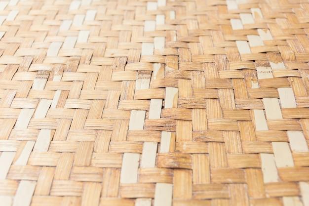 Feche acima do teste padrão de bambu tecido