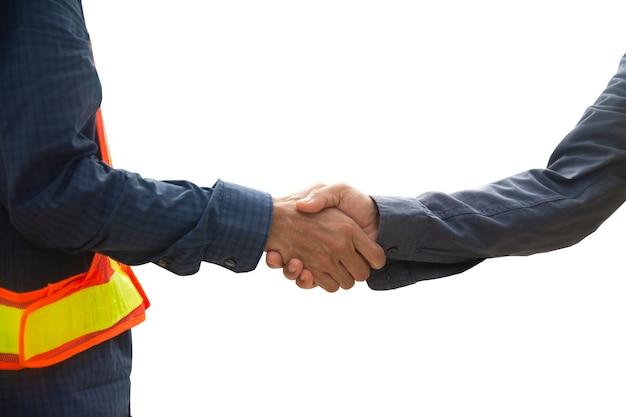 Feche as mãos apertem o conceito de sucesso do acordo de negócios, aperte a mão ou aperte a coleção