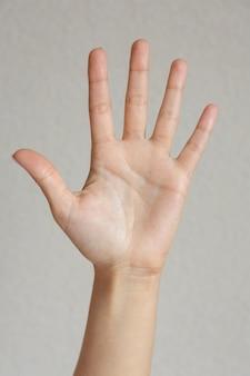 Feche com belos gestos com as mãos isolados