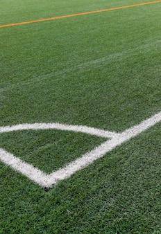 Feche o campo de futebol