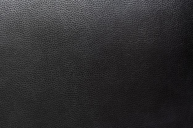 Feche o fundo preto de couro e textura.