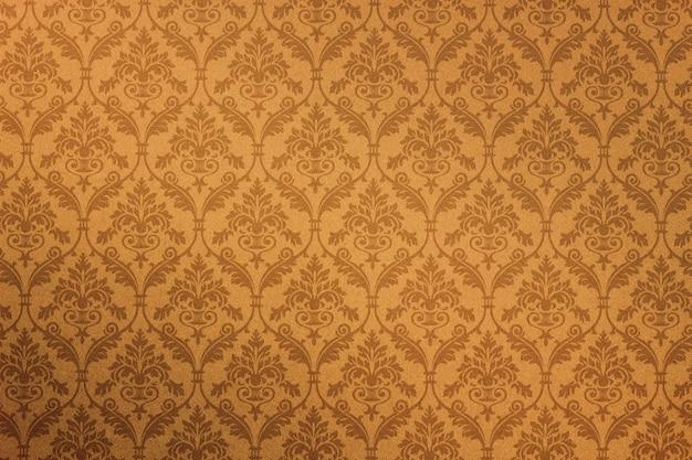 Feche o padrão de flores vintage no fundo de textura de papel