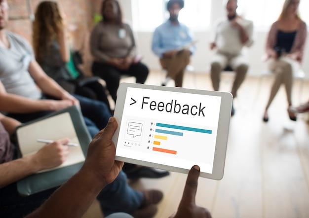 Feedback resultados informação satisfação