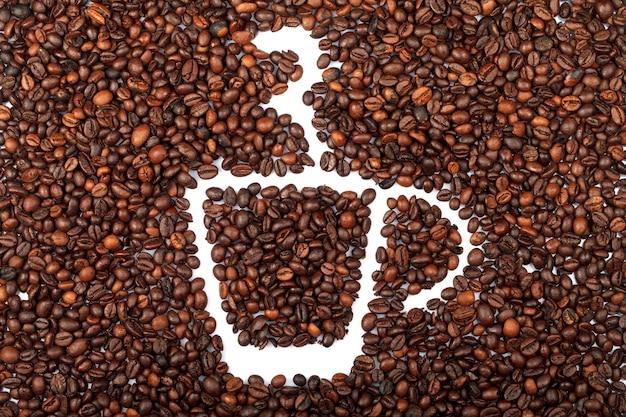 Feijão café torrado. fechar-se