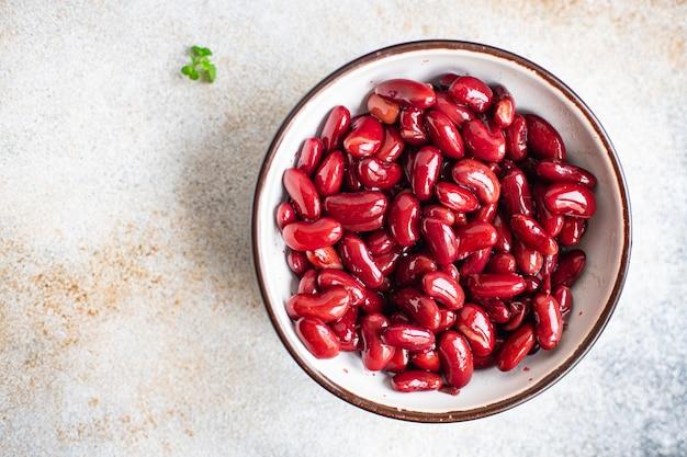 Feijão enlatado refeição saudável dieta cetogênica ou paleo