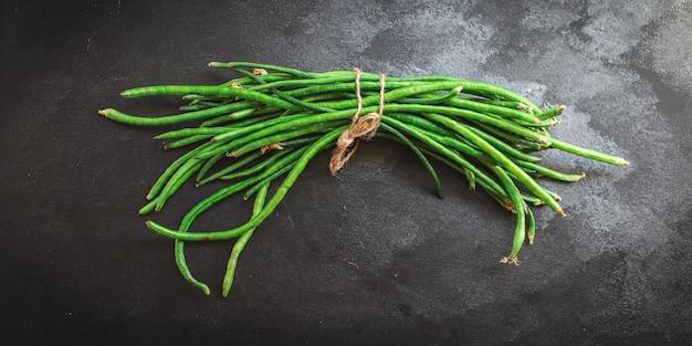 Feijão verde leguminosas cruas