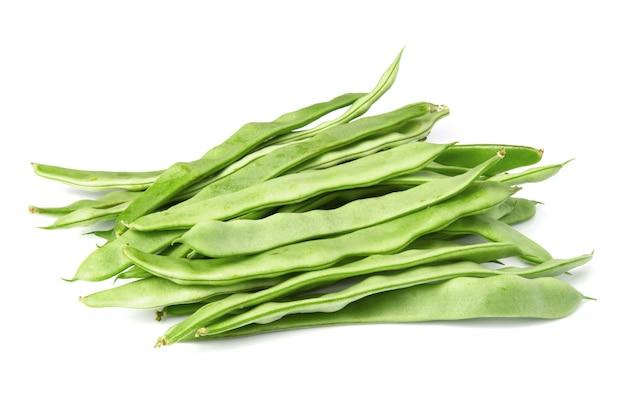 Feijões verdes lisos