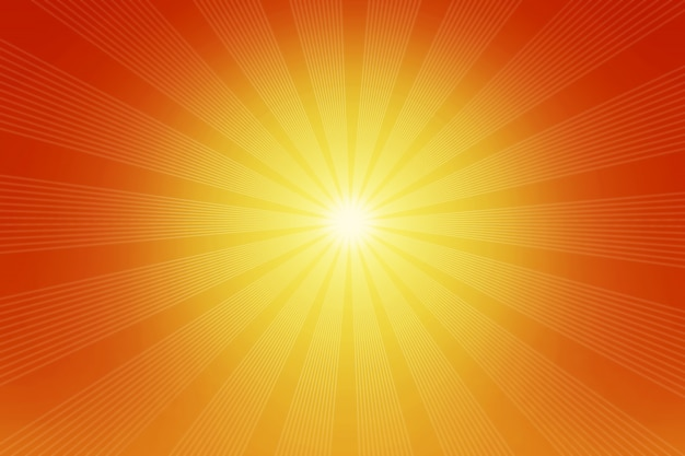 Feixes de luz laranja