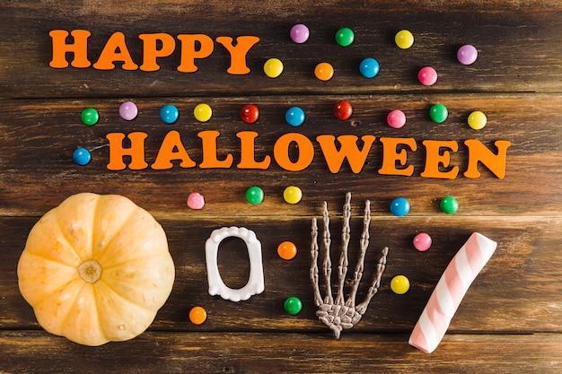 Felicidade doçura feliz de halloween