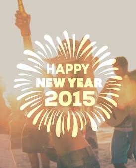 Feliz ano novo 2015 vector