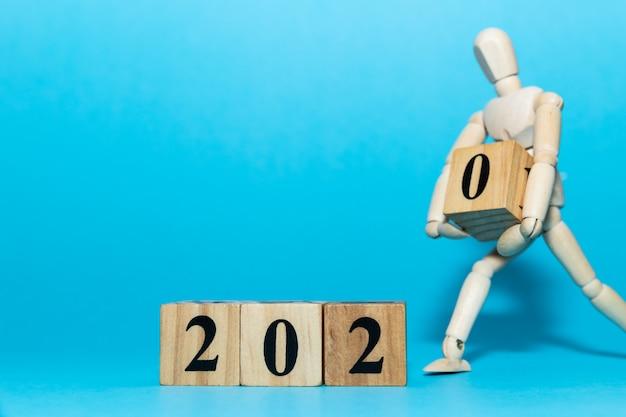 Feliz ano novo 2020 celebração conceito