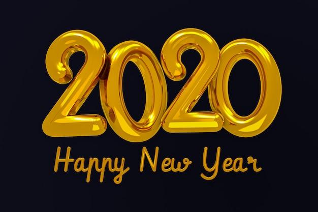 Feliz ano novo 2020 design criativo conceito, cartão de felicitações