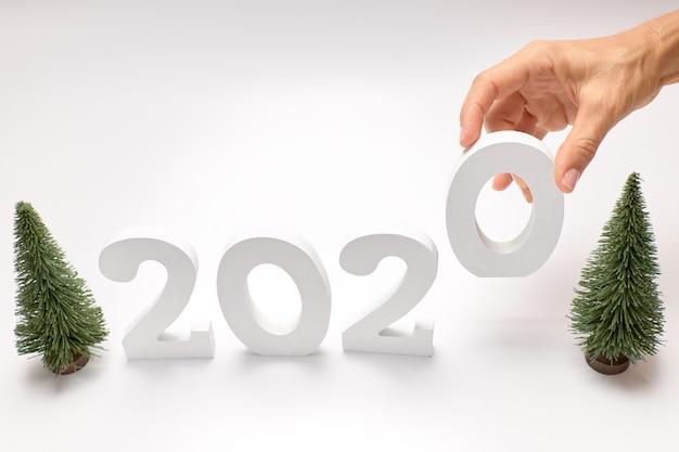 Feliz ano novo 2020. símbolo do número 2020